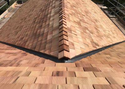 Cedar shingle roofer Devon