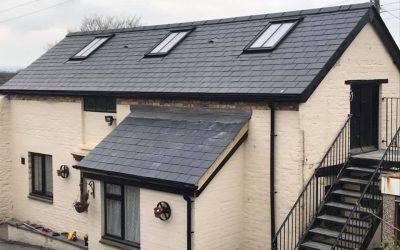 100 year old slate roof: Ogwell