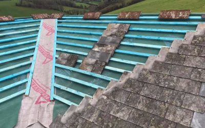 Reclaimed French Slate Project: Bickington
