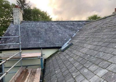 welsh slate re roof Chagford, Devon (1)