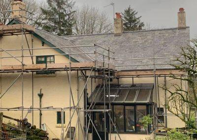 welsh slate re roof Chagford, Devon (10)