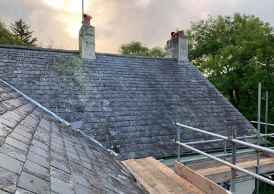 welsh slate re roof Chagford, Devon (2)