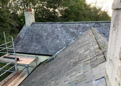welsh slate re roof Chagford, Devon (3)