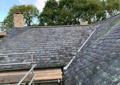 welsh slate re roof Chagford, Devon (4)