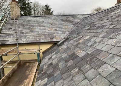 welsh slate re roof Chagford, Devon (5)