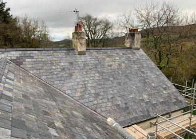welsh slate re roof Chagford, Devon (6)
