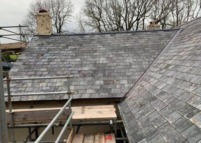welsh slate re roof Chagford, Devon (7)