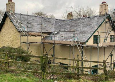 welsh slate re roof Chagford, Devon (8)