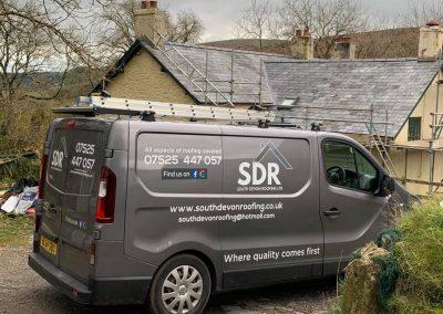 welsh slate re roof Chagford, Devon (9)
