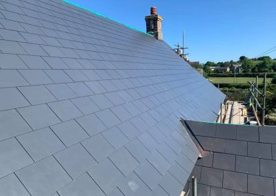 Man Made Slate Roof, Teigngrace Village Hall