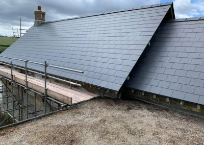 Man Made Slate Roof, Teigngrace Village Hall