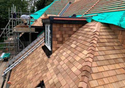 cedar shingle roofs Devon